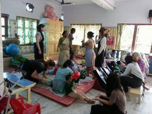 印度加爾各答兒童之家。技職博覽會/攝影