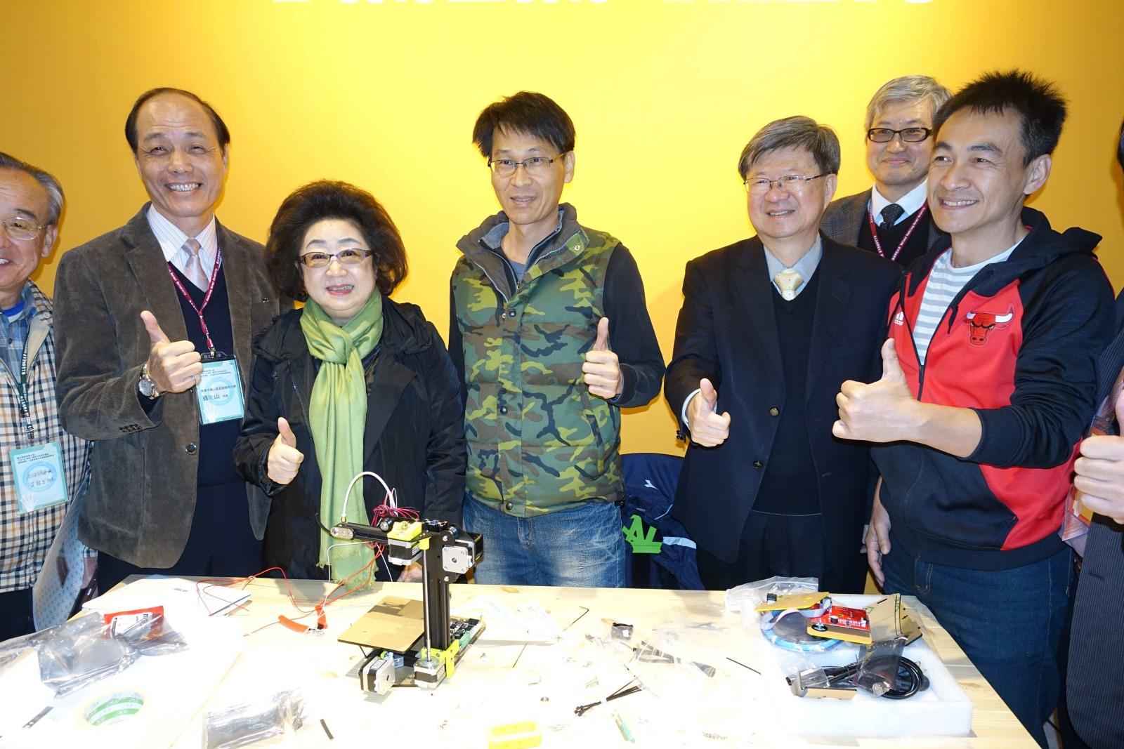 推動自造教育策略聯盟簽約與自造者基地揭牌啟用儀式 吳思華