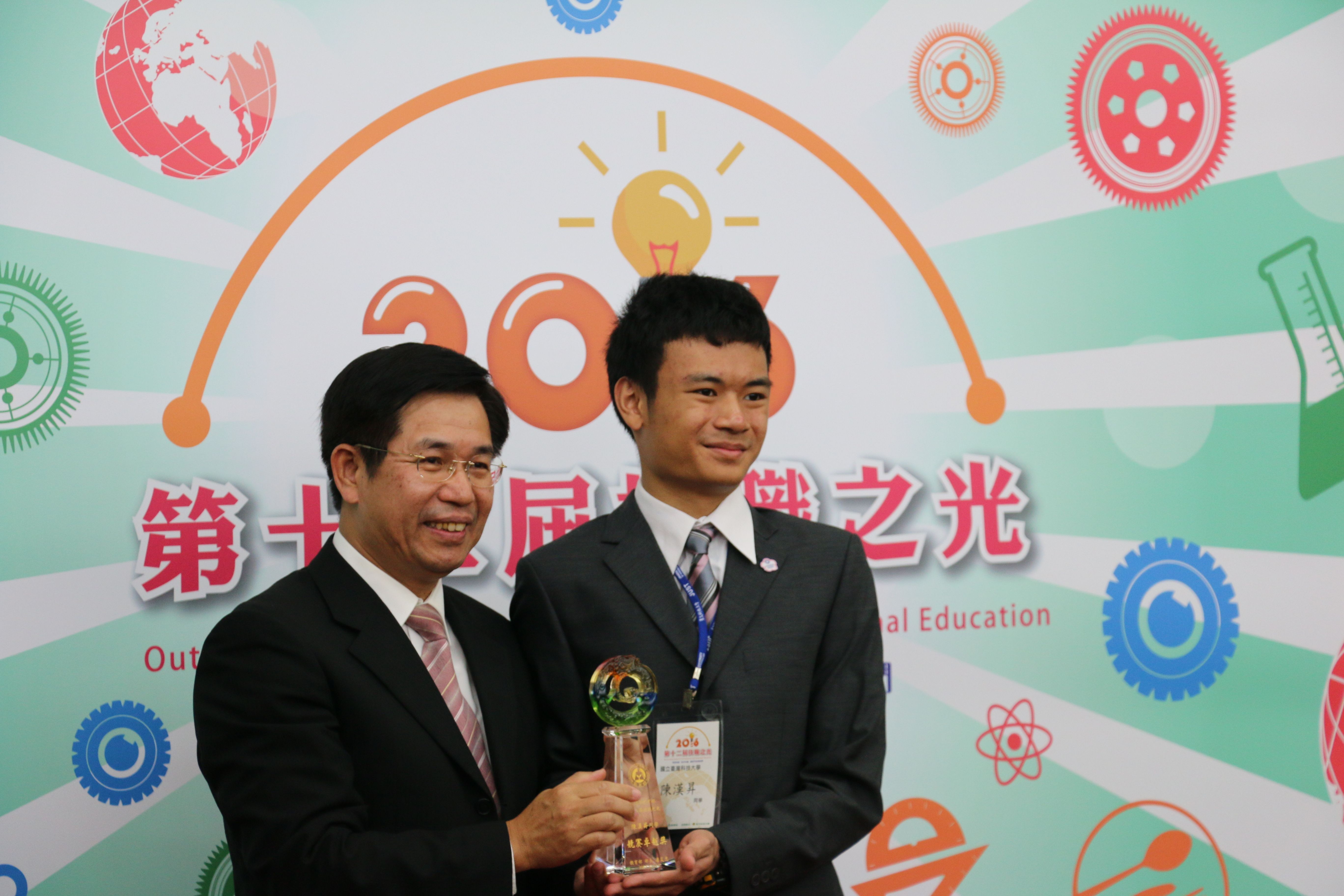 第9屆國際展能節職業技能競賽工業電子金牌陳漢昇。(圖/黃偉翔攝影)