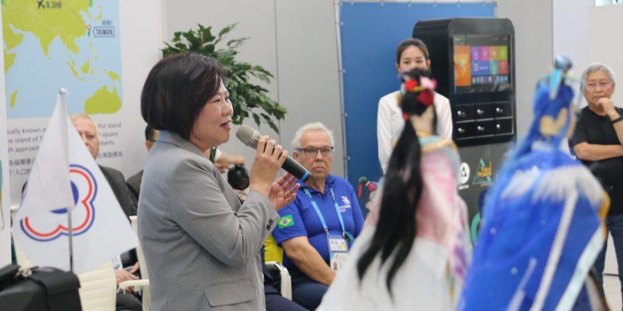 國際技能競賽台灣館開幕 許銘春:代表團的心靈支柱