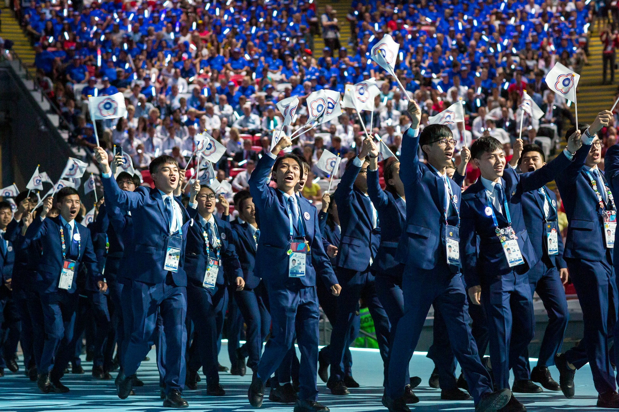 (影)台灣國手開幕進場 驚豔全世界