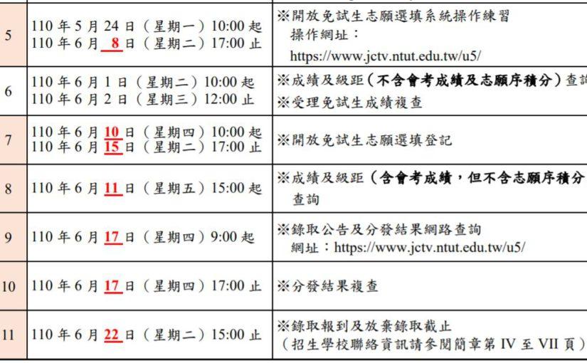 五專優免入學新日程 6/11公布會考成績、6/17放榜
